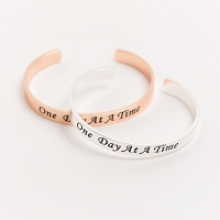 Metal Engraved Recovery Bracelets