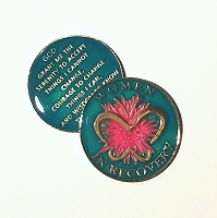Aqua Women In Recovery Triplate Affirmation Medallion
