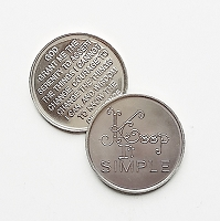 Keep It Simple Aluminum Affirmation Coin
