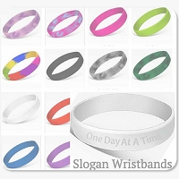 Slogan Wristbands