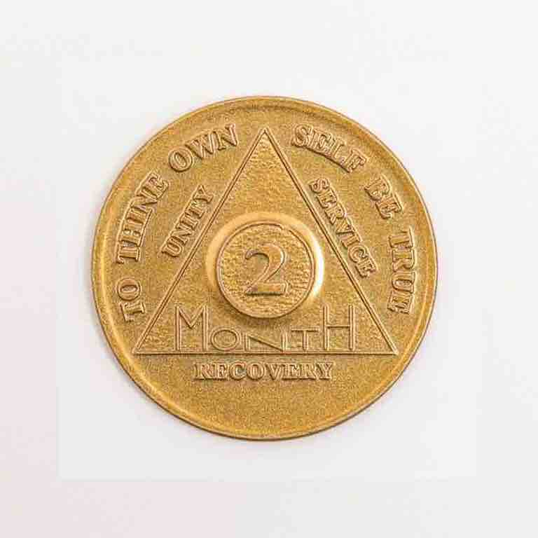 2 Month Aa Token 2 Month Recovery Coins 60 Day Sobriety