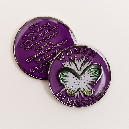 Purple Women In Recovery Triplate Affirmation Medallion