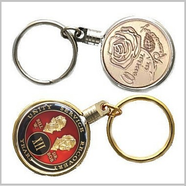 Gold/Silver Keychain Coin Holder