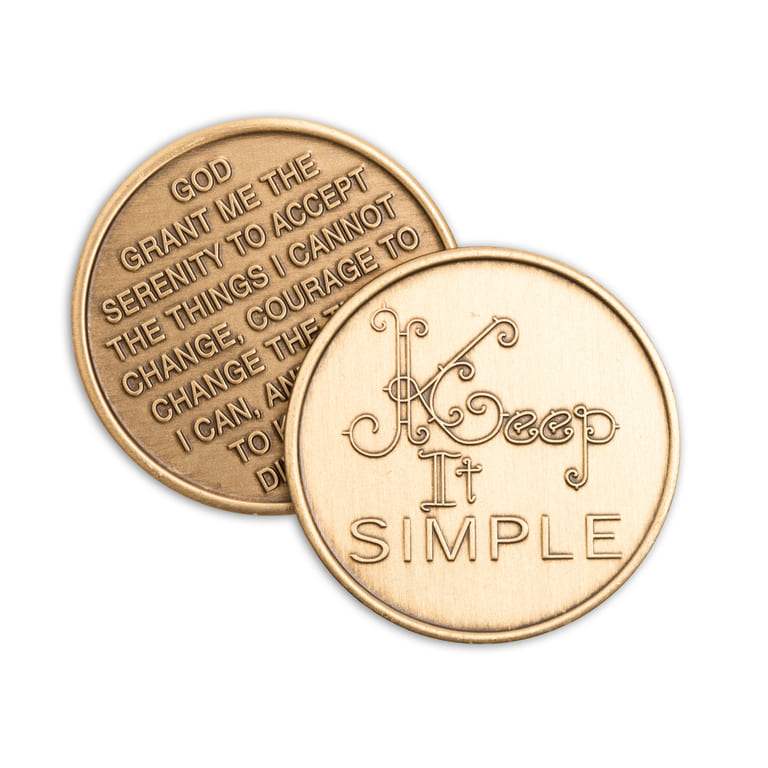 Keep It Simple Bronze Affirmation Medallions