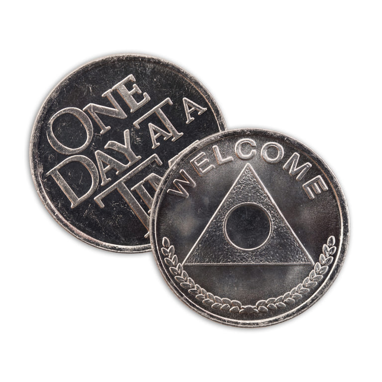 Welcome Wheat One Day At A Time Aluminum Affirmation Coin