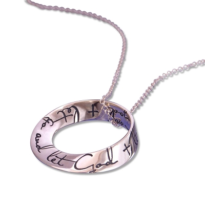 Let Go And Let God Sterling Silver AA Necklace