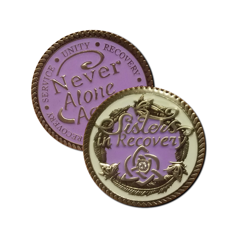 Sisters In Recovery Premium Lilac Medallion