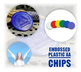 Embossed Plastic AA Chips