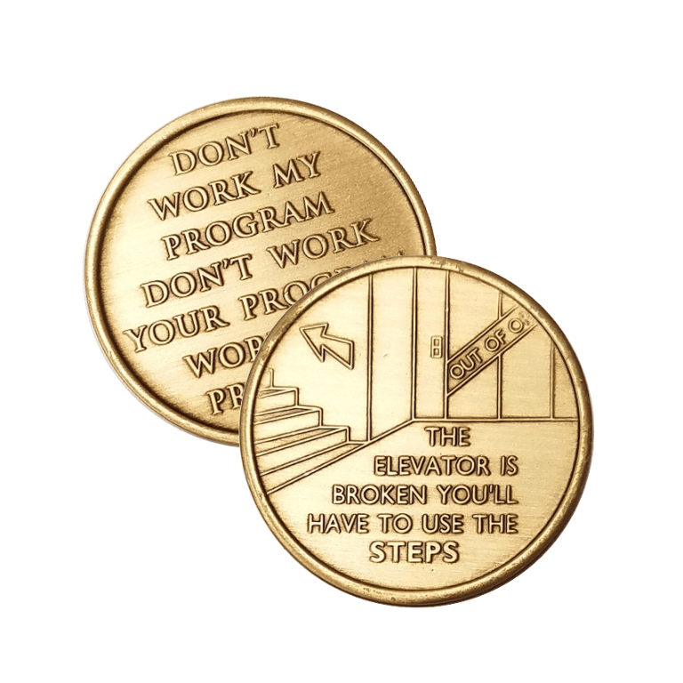 Elevator is Broken Wendells Bronze Affirmation Medallions