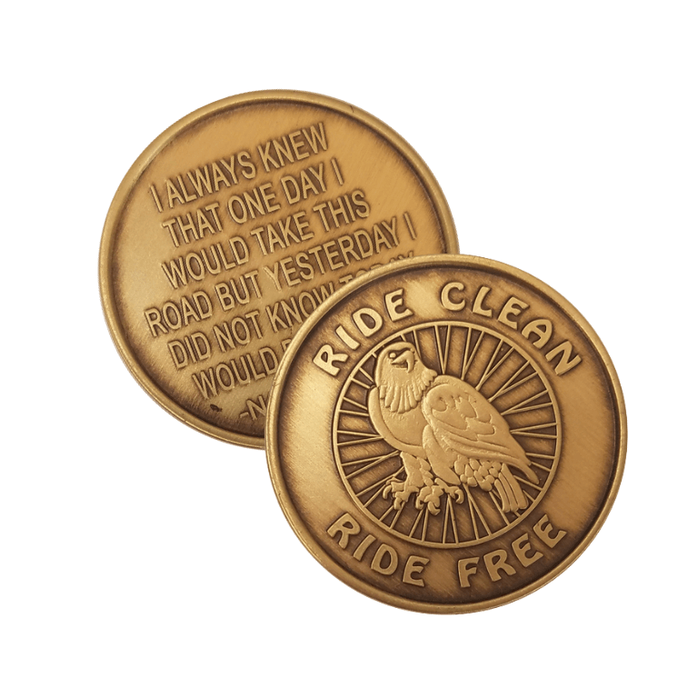 Ride Clean Wendells Bronze Affirmation Medallions
