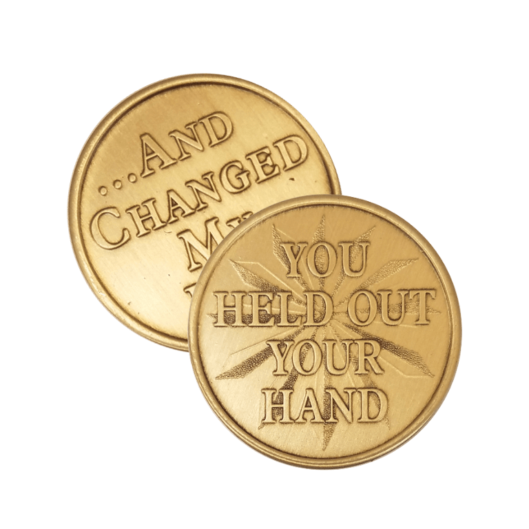 You Held Out Your Hand Wendells Bronze Affirmation Medallions