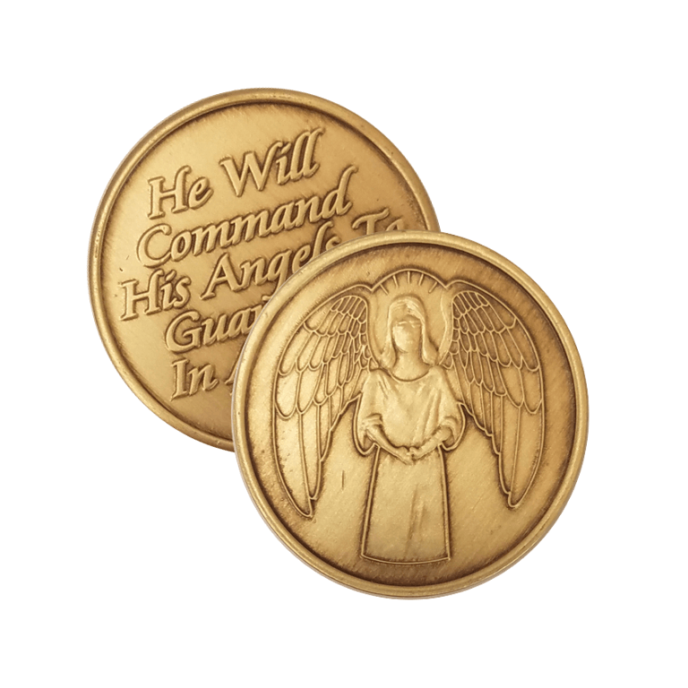He Will Command His Angels To Guard You In All Your Ways Wendells Bronze Affirmation Medallions