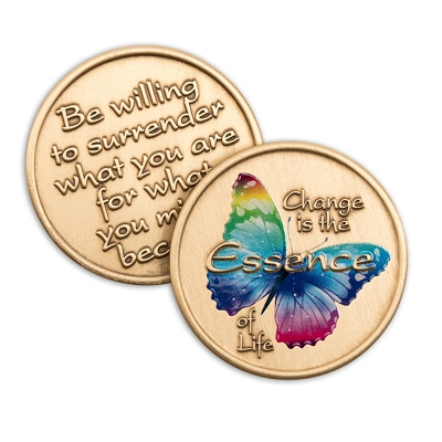 Essence of Change Premium Butterfly Affirmation Medallions