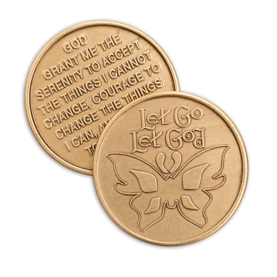 Let Go And Let God Bronze Affirmation Medallions