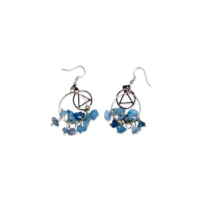 Aquamarine Wire Hoop AA Earring