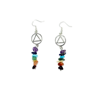 Multicolor Stone Drop AA Earring