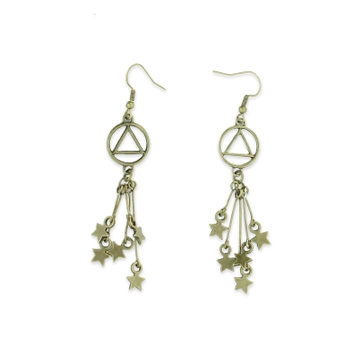 Bronze Patina Shooting Stars AA Earring