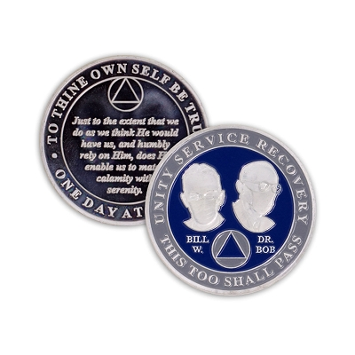 COVID Coin Masked Founders Blue & Gray
