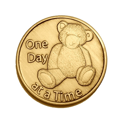 Teddy Bear Bronze Affirmation Medallions