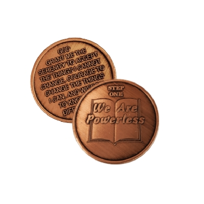 Copper Commemorative 12 Step Medallions