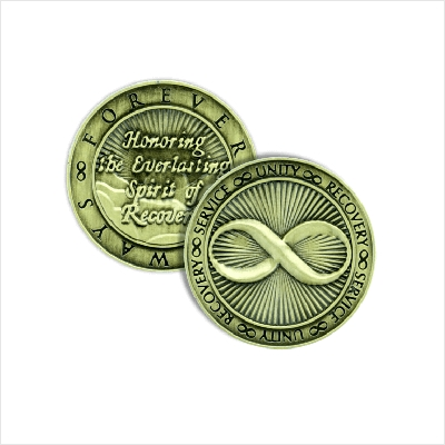 Infinity Bronze Affirmation Medallions