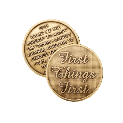 First Things First Bronze Affirmation Medallion