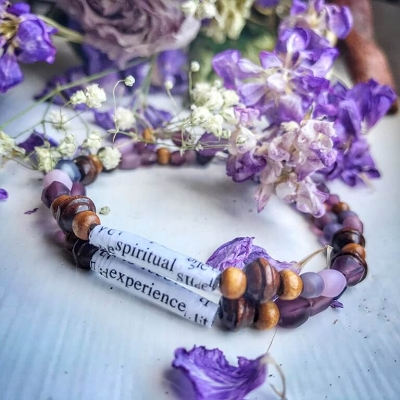 Big Book Bead Bracelet Spiritual Experience Purple