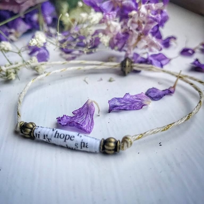 Big Book Bead Bracelet Hope String