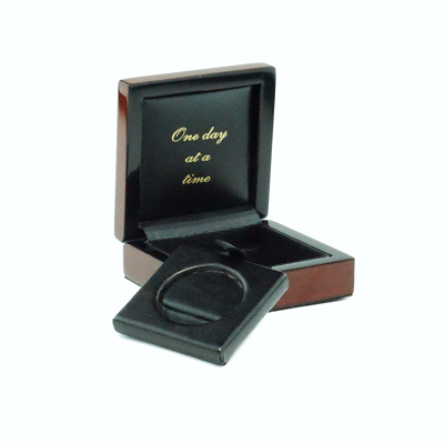 Teakwood AA Coin Box with High Gloss Finish