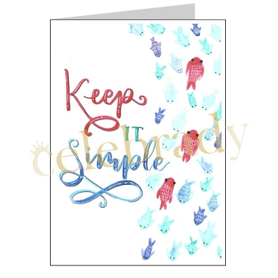 Keep It Simple Greeting Card