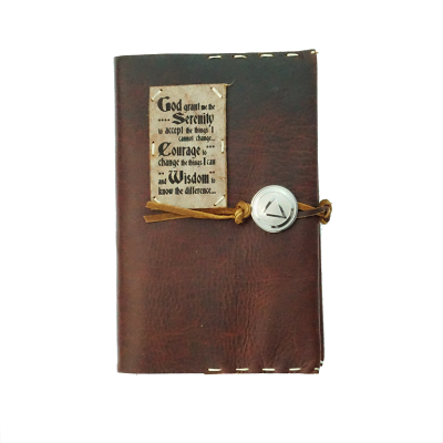 Hand Stitched Leather Recovery Journal