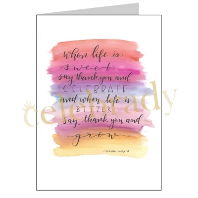 Bitter Sweet Life Greeting Card