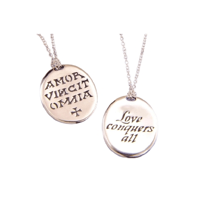 Love Conquers All Sterling Silver AA Necklace