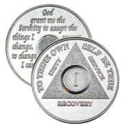 Precious Metal Silver Plated AA Anniversary Medallions