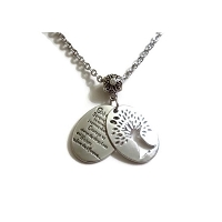 Tree of Life Serenity Prayer Hidden Window Necklace