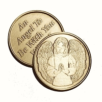 Angel To Be With You Bronze Affirmation Medallion