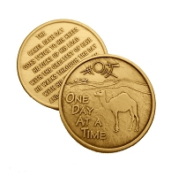 Camel With Poem Bronze Affirmation Medallions