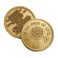 Spirit of Love Bronze Affirmation Medallions