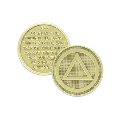 Circle Triangle Wendells Bronze Affirmation Medallions