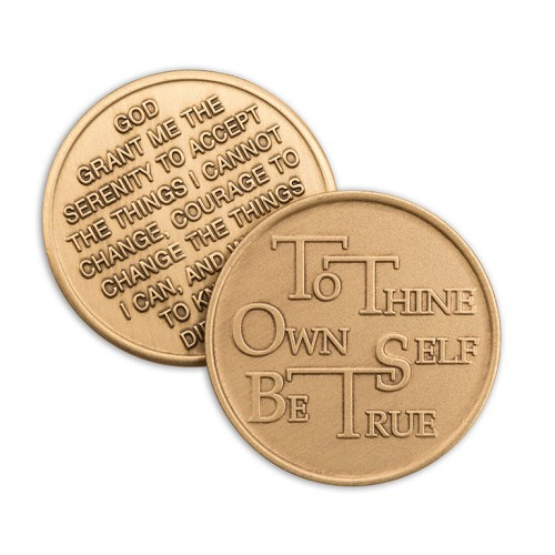 To Thine Own Self Be True Bronze Affirmation Medallions