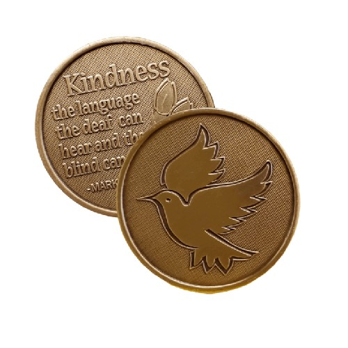 Kindness Language Bronze Affirmation Medallion