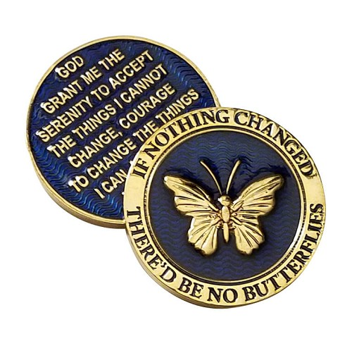 Reflex Blue Premium Butterfly Affirmation Medallion