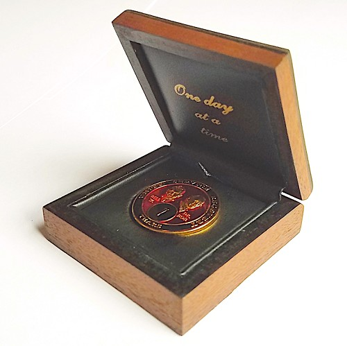 Wooden AA Coin Box with Dark Flat Finish