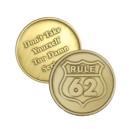 Bronze Rule 62 Affirmation Coin