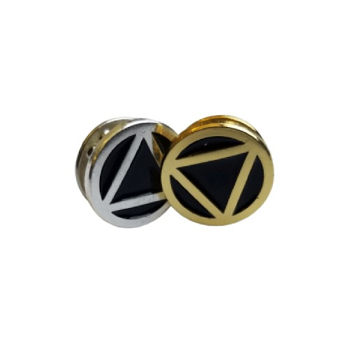 Circle Triangle Motif Pin