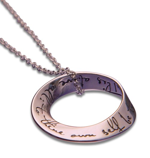 To Thine Own Self Be True Mobius AA Necklace