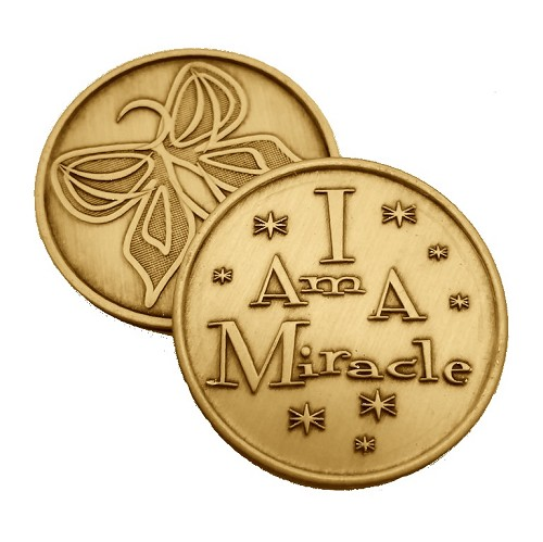 I Am A Miracle Bronze Affirmation Medallions