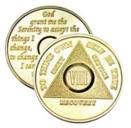 Gold Plated Precious Metal AA Anniversary Medallions