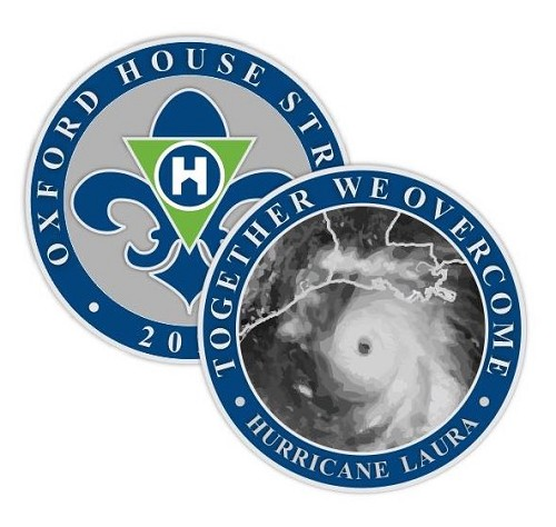 Oxford House Louisiana Fundraising Coin