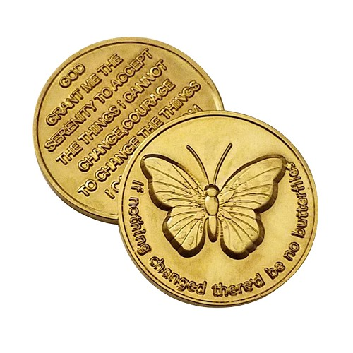 Bronze Butterfly Affirmation Coin